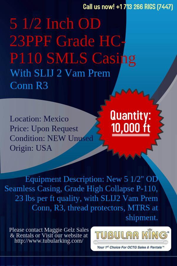 4 12 OD SMLS Chrome Tubing 1275 ppf Grade 13CR85 comes with